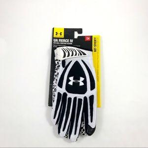 New Mens UA Fierce IV Hybrid Football Gloves Small